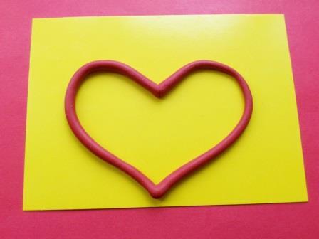 сердце из пластилина