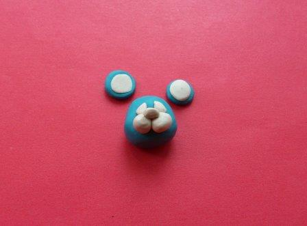 Заготовки для ушей из пластилина