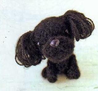 Собачка Пудель – амигуруми схема вязания