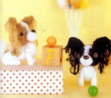 Собачка Папильон – амигуруми