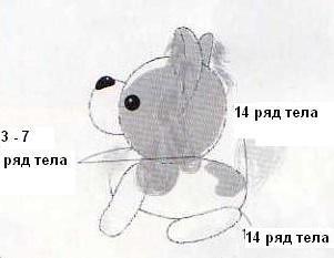Собачка Папильон схема