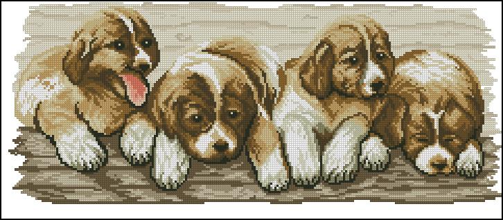 вышивка крестом схемы бесплатно собаки
