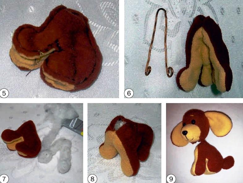 выкройки игрушек собак простых