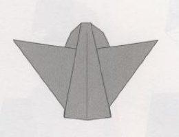 ангелочек оригами схема