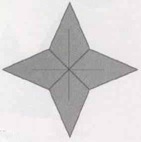 Новогодняя звездочка оригами – как сделать