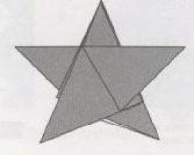 Пятиконечная звезда – оригами из бумаги