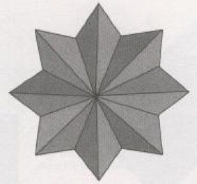 Новогодняя звезда оригами восьмиконечная