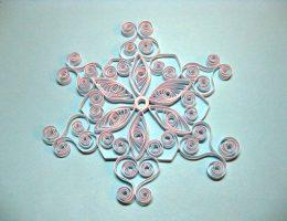 Миниатюра к статье Снежинка квиллинг из бумаги – схема изготовления