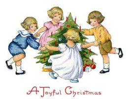 Миниатюра к статье Английские открытки с Новым годом с детьми