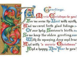 Миниатюра к статье Открытки — поздравления с Рождеством на английском языке