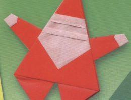 Оригами Дед Мороз – схема из бумаги