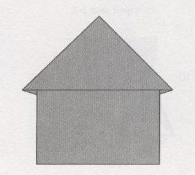 Оригами домик – новогодние поделки