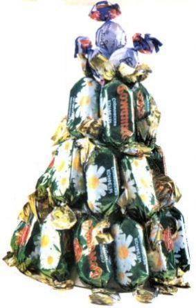 Новогодняя елочка из конфет фото