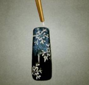 Новогодний маникюр ногтей снежинки фото как сделать