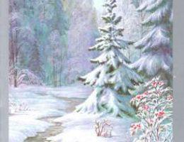 Миниатюра к статье Красивые новогодние открытки с природой или зимними композициями