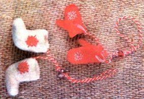 валяные валенки и варежки фото