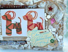 Миниатюра к статье Новогодняя открытка с годом козы своими руками – используем необычные материалы
