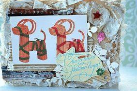 Новогодняя открытка с годом козы своими руками – используем необычные материалы