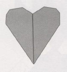 Сердце – оригами из бумаги