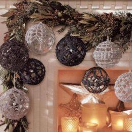 Миниатюра к статье Вязаные шары для новогодней елки – схемы