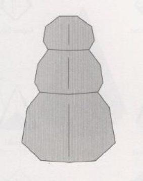 Снеговик оригами - схема из бумаги