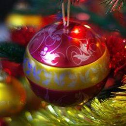 Украшение новогодней елки фото