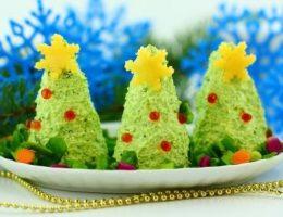 Новогодняя закуска Ёлочки, рецепт пошагово с фото