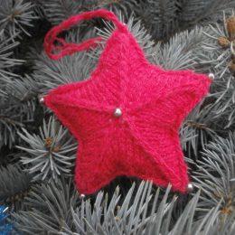 Звездочка на елку – как связать, фото и описание